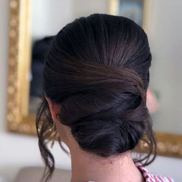 Tendrils Chignon Hairstyle For Women