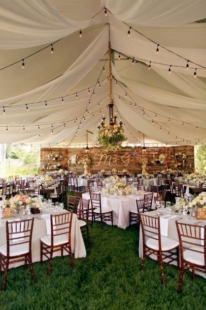 Tent Backyard Wedding Ideas