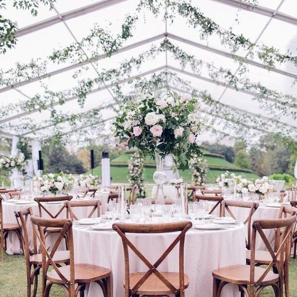Tented Wedding Blush Flowers
