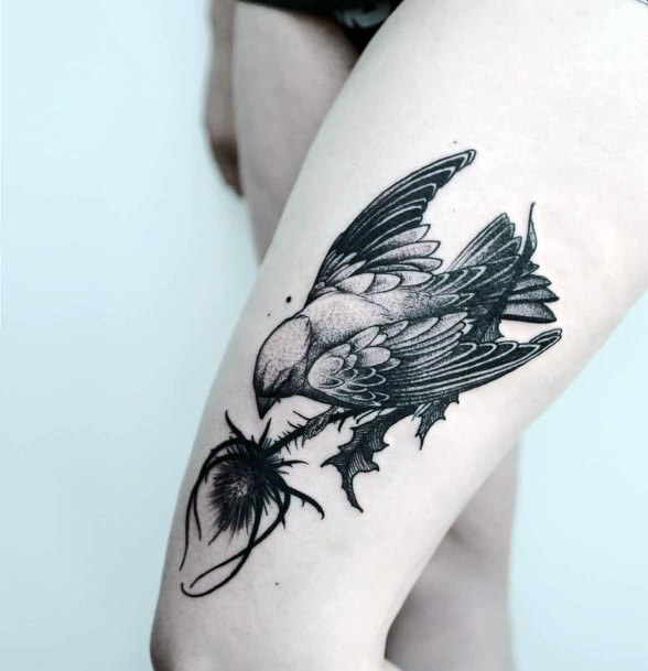 Terrific Dark Dove Tattoo Women