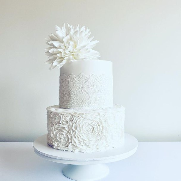 Tesxtured White Wedding Cake