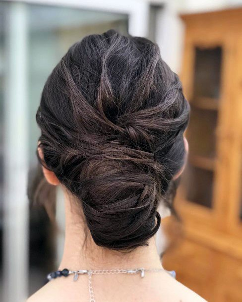 Textured Chignon Hairstyle For Women