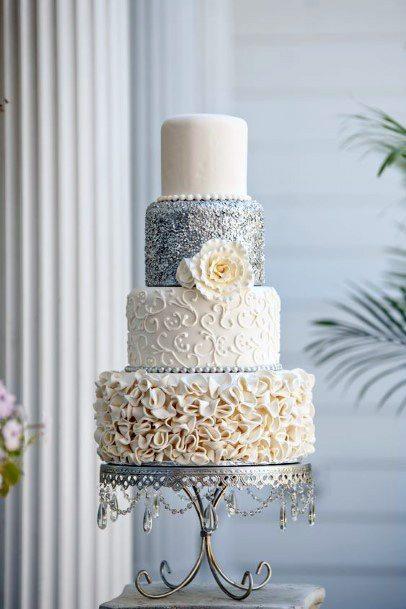 Textured Elegant Wedding Cake Women