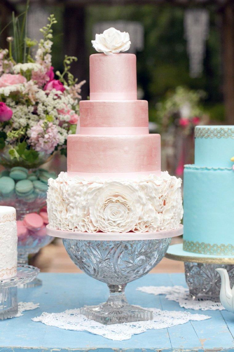Textured Silver Wedding Cake Stand Women