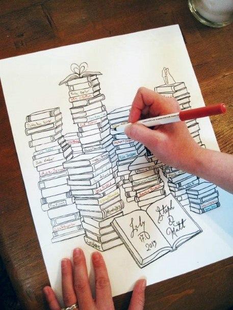 Themed Novel Book Wedding Guest Book Ideas