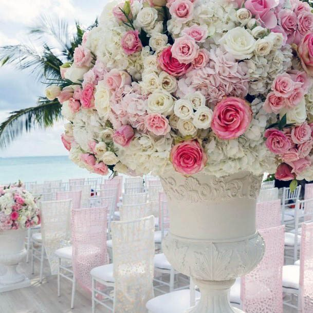 Thick Bunch Pink Flowers Wedding