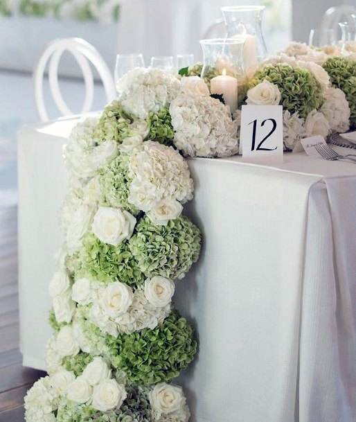 Thick Ropes Of Hydrangea Flowers Wedding