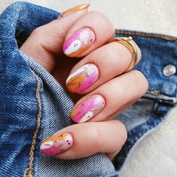 Three Colored Nail Ideas For Women