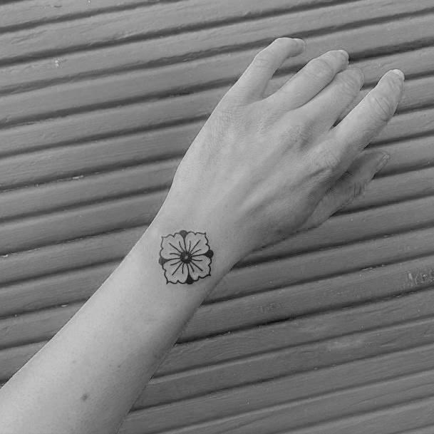 Tiny Cute Black Tattoo Womens Wrists
