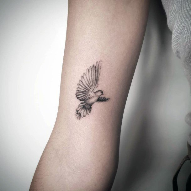 Tiny Dove Tattoo For Women
