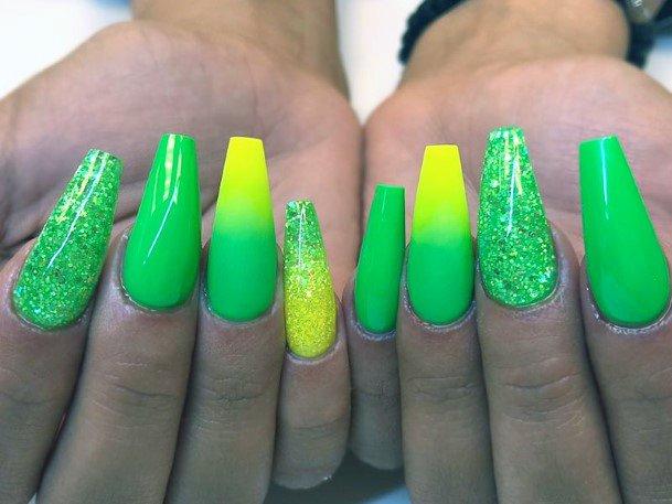 Tp Neon Colors Ombre Nails