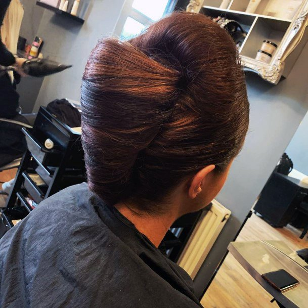 Traditional French Twist With A Horn For Women And Girls