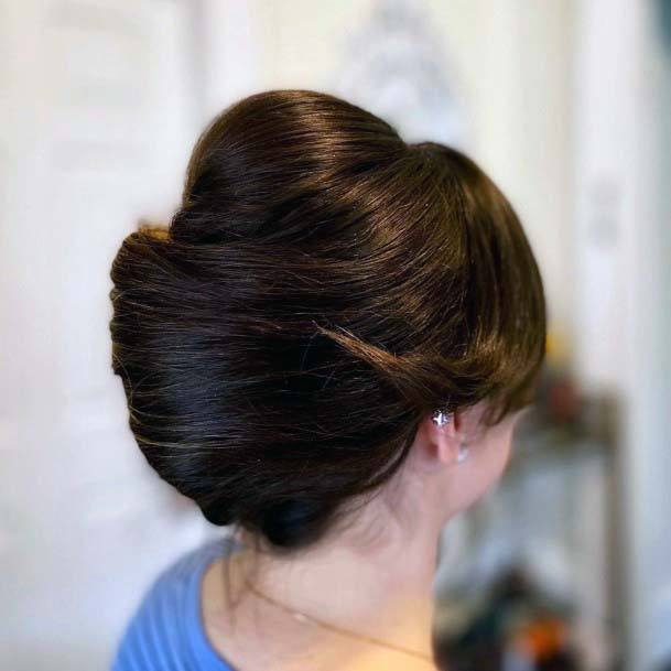 Traditional Horn Shaped French Twist For Women