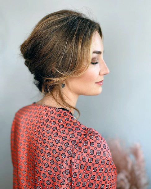 Traditional Subtle Feminine French Twist For Teenage Girls And Women