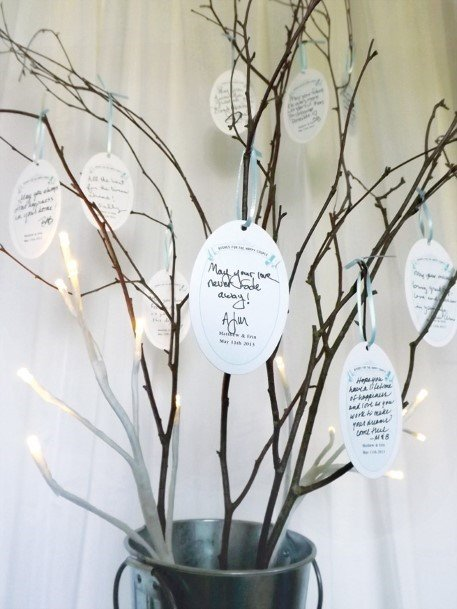 Tree Branches Wedding Guest Book Ideas