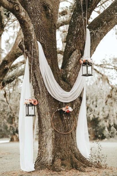 Tree Decor Backyard Wedding Ideas
