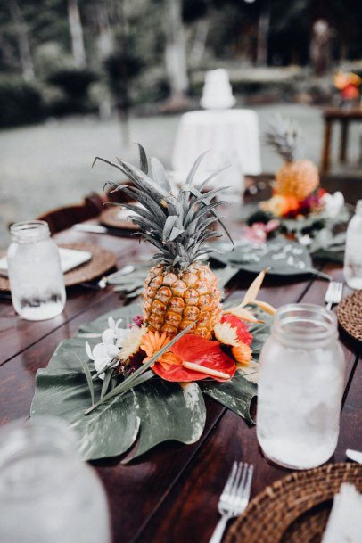 Tropical Pineapple Hawaiian Wedding Flowers
