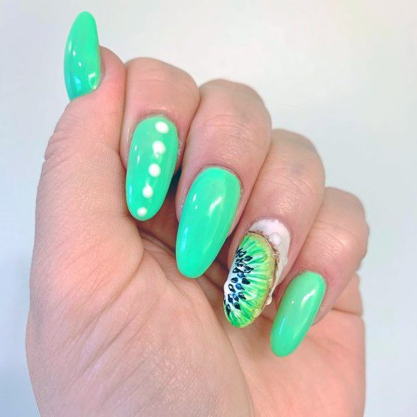 Turquiose Kiwi Nails Women
