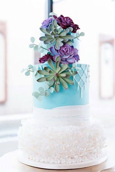 Turquoise Blue Wedding Cakes
