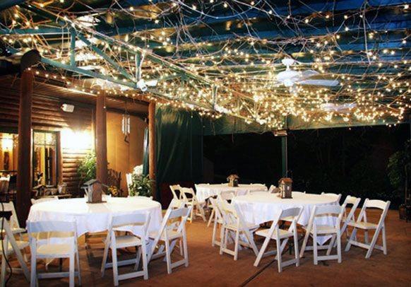 Twinkle Light Reception Inspiration Backyard Wedding Ideas