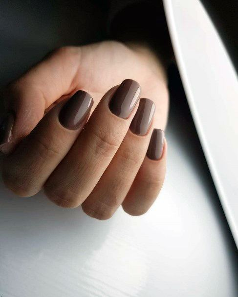 Umber Brown Nail Ideas Women