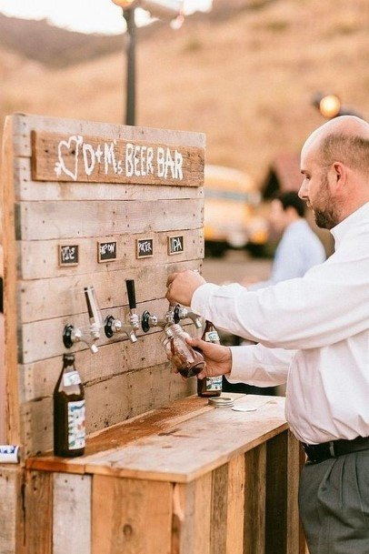 Unique Backyard Wedding Ideas For Bars