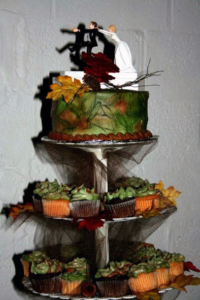 Unique Camo Wedding Cakes