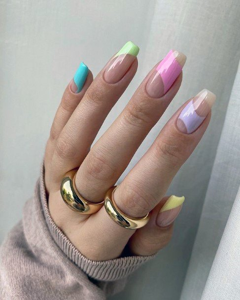Unique Colored April Nails Women
