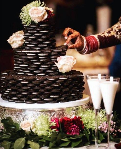 Unique Oreo Wedding Cake