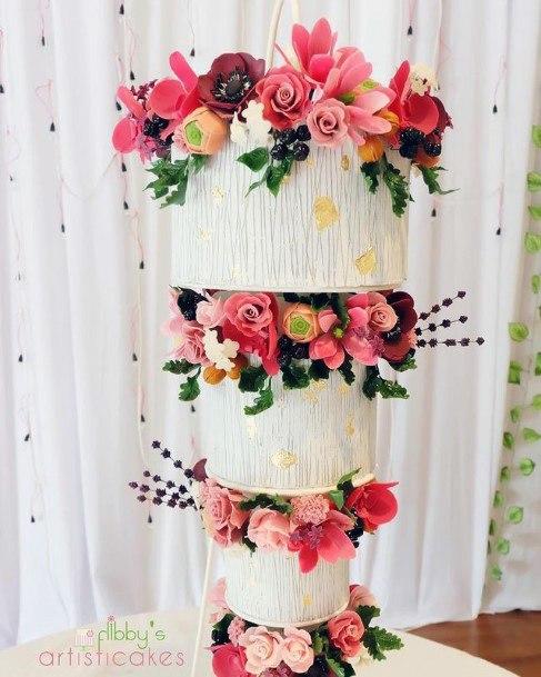Upside Down 3 Tier Wedding Cake Women Art