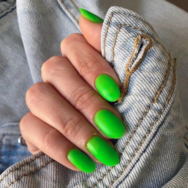 Vibrant Neon Green Nails
