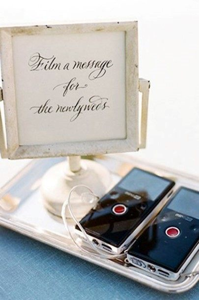 Video Recorded Wedding Guest Book Ideas