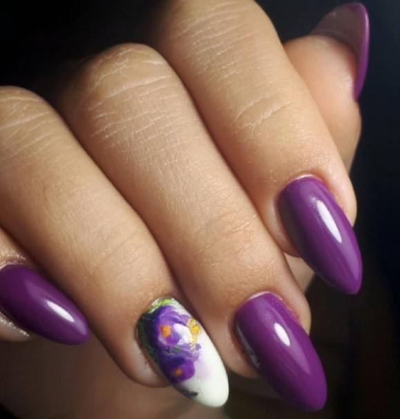 Vivid Amethyst Shellac Nails For Women