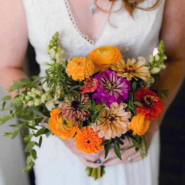 Vivid August Wedding Flowers