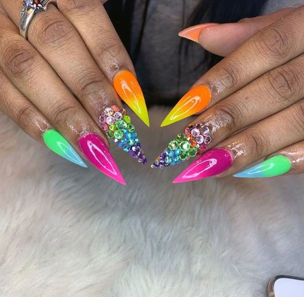 Vivid Interesting Colorful Nail Ideas For Women