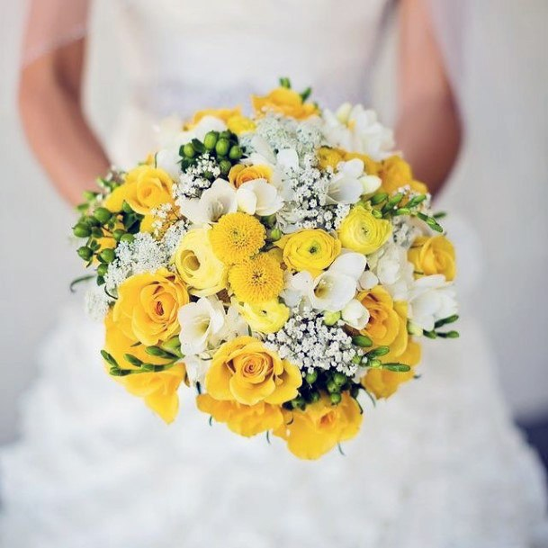 Vivid Yellow Wedding Flowers