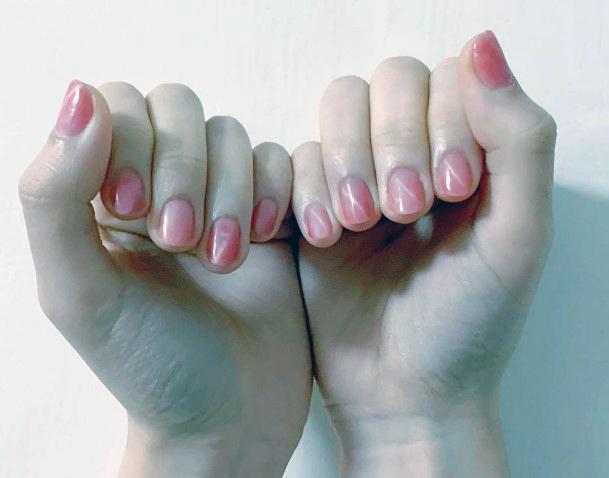 Warm Pink Cat Eye Nails