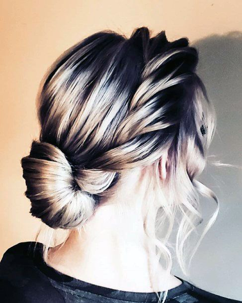 Waterfall Inspired Chignon Hairstyle For Women