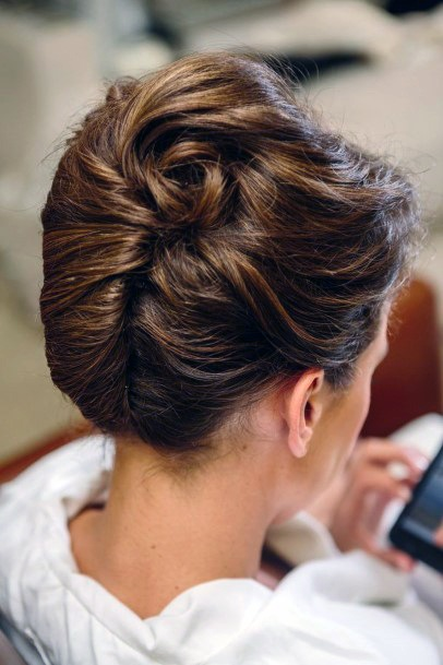 Wavy And Sporty French Twist For Women