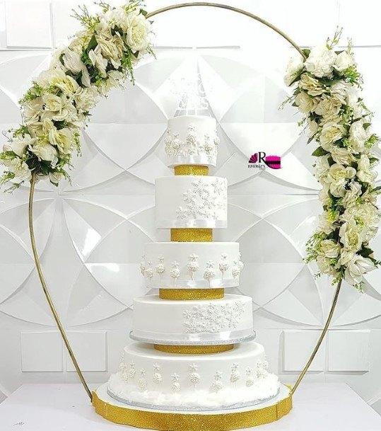 Wedding Cake Five Tiered Beautiful