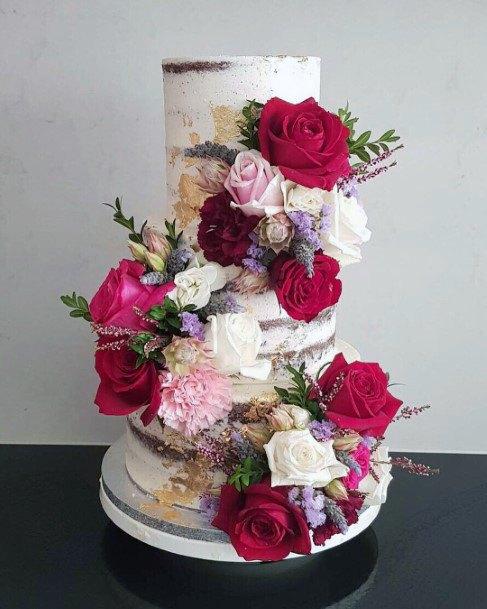Wedding Cake Ideas Cascading Floral Inspiration