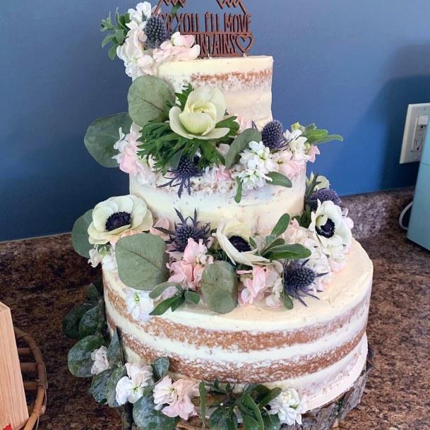 Wedding Cake Ideas Fairy Woodland Semi Naked Inspiration