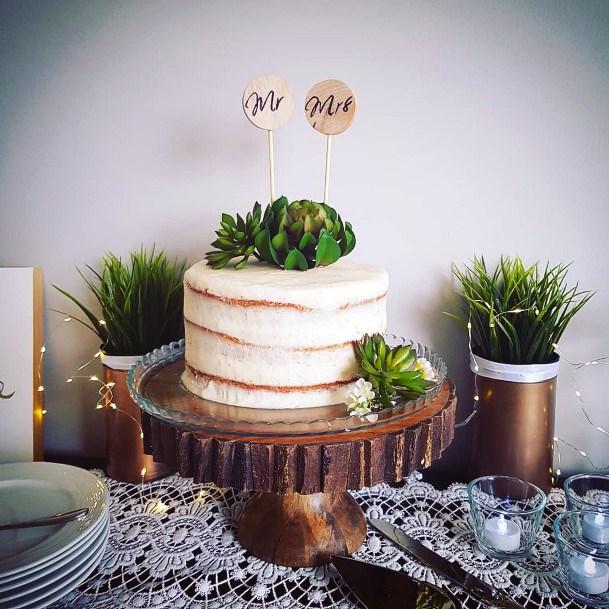 Wedding Cake Ideas Succulent Topper Inspiration