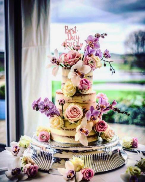 Wedding Cake Ideas Whimsical Large Flowers Inspiration