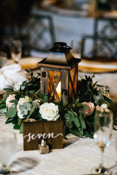 Wedding Centerpiece Ideas Bronze Lantern