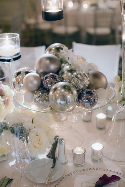 Wedding Centerpiece Ideas Gold Christmas Ornaments
