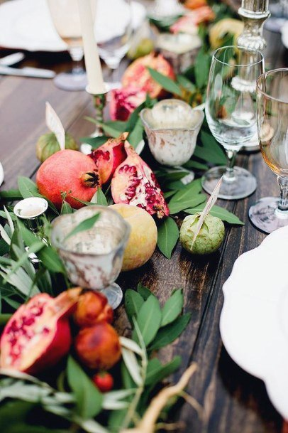 Wedding Centerpiece Ideas Greenery And Fruit Inspiration