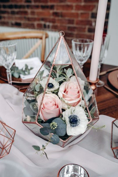 Wedding Centerpiece Ideas Modern Geometric Terrarium