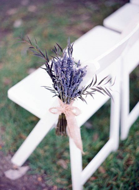 Wedding Chair Decor Lavender Flowers