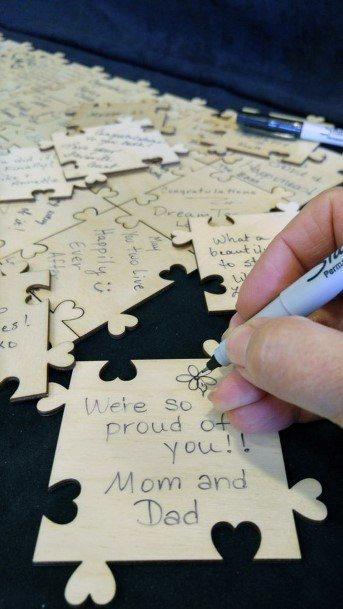 Wedding Guest Book Ideas Creative Puzzle Pieces